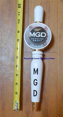 Miller Genuine Draft MGD Beer Tap Handle MLB Baseball Design Vintage