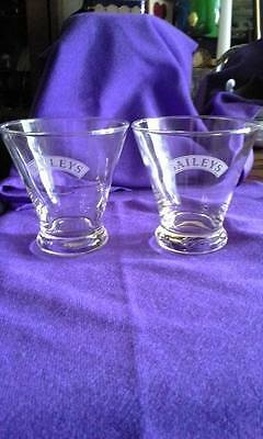 Bailey's Etched 8 oz  Glasses; Set of Two