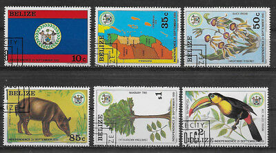 Belize ,1981/82, Independence , Set Of 6 Stamps , Perf , Cto/mnh