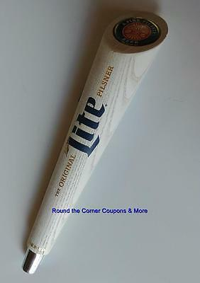 "Retro Original Miller Lite Pilsner Beer Tap Handle Wooden 12"" size"