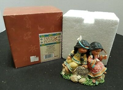 Enesco Friends of the Feather 2001 Count on Love Boy Girl Rock Figurine