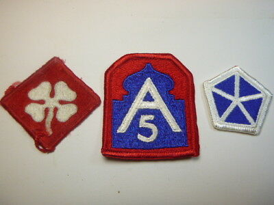 A   Lot of Three U S Army  Merrowed Edge  Patches