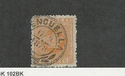 Angola, Postage Stamp, #2 Used, 1870 Portugal Colony