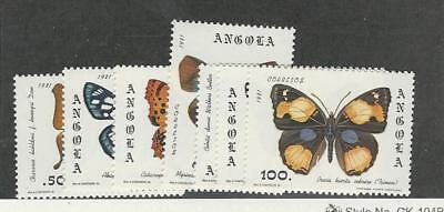 Angola, Postage Stamp, #647-653 Mint NH, 1981 Butterflies