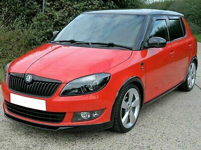 Tinted Front Rear 4 Set Heko Wind Deflectors for Skoda Fabia (07-14) [Hatchback]