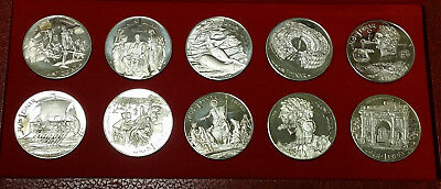 1969 Republique Tunisienne ten silver coin proof set from Tunisia