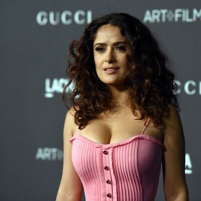 Salma Hayek With Pink Pleated Blouse 8x10 Picture Celebrity Print