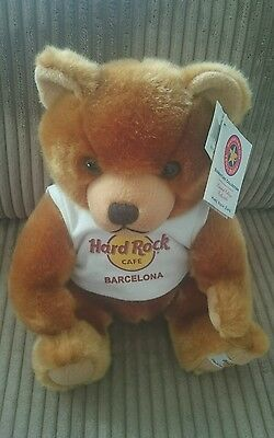Hard Rock Cafe Barcelona 2006 Bear & Tags Limited Edition Signature Collection