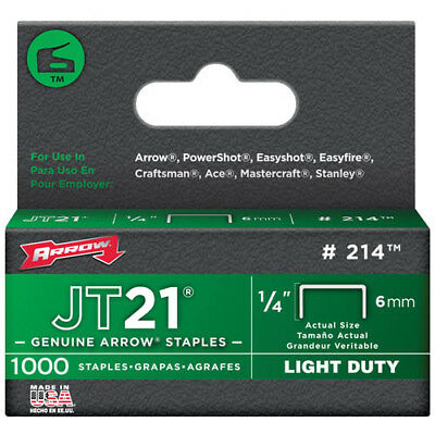 Arrow JT21 Staples 8mm Staples Box 1000