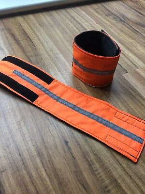 Orange Hi Viz Leg Wraps - Adjustable Size