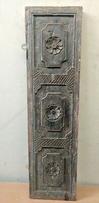 Antique Hand Floral Carved Wall Hanging Wooden Window Panel Home decor panel
