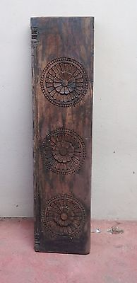 Hand Floral Carved Wall Hanging Wooden Window Panel Antique Home decor Interior