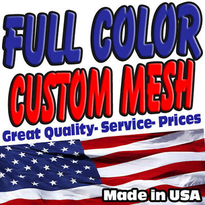 Custom Mesh Banner Full Color Any Size $ 0.98 Sq/ft - Free Shipping