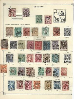 Uruguay - Early Years Used / Mint Stamps Collection (1877-1920) 170+ Stamps