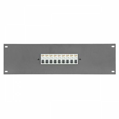 Showtec PDP-F9161 19 inch Panel with 9 x 16A MCB 1 pole (Stromverteiler)