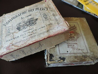 Vintage Photographic Thornward Dry Plates & Hammer box for display