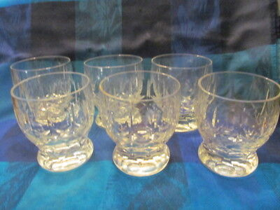 6 Cross & Olive Pattern Rummer/tumblers - Vgc