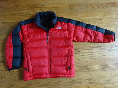 Boy's NORTH FACE Red and Black Puffer Coat Size Medium 10/12