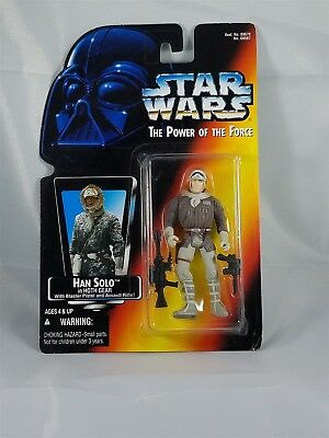 Star Wars Power of the Force Han Solo in Hoth Gear NIP