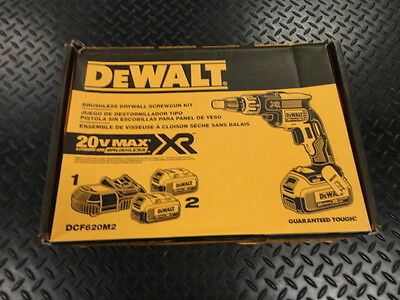 DeWalt DCF620M2 Brushless Drywall Screwgun Kit