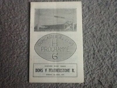 Doncaster v Featherstone Rovers 1970