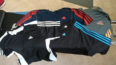 Nice lot of 4 Adidas large athletic shirts good condition