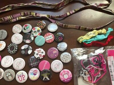 Thirty One Lot Accessories Buttons Lanyards Bands