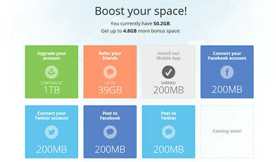 Mediafire +32GB Referral Bonus Permanent Space
