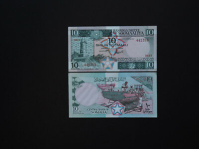 SOMALIA BANKNOTES 10 SHILLINGS  p 32  -  GREAT IMAGES   DATE  1987    MINT UNC
