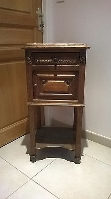 french bedside cabinet - marble top - terrific value!!!!!!! Look!