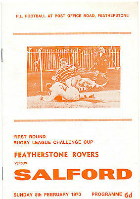 Featherstone Rovers v Salford Challenge Cup 1970