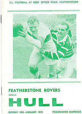 Featherstone Rovers v Hull 1970