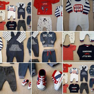 Large Bundle Baby Boys Clothes 3-6 Months HARDLY WORN P&P Next Day Winter Items