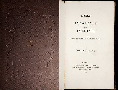 1839 WILLIAM BLAKE Songs of Innocence & Experience TIGER English poetry RARE