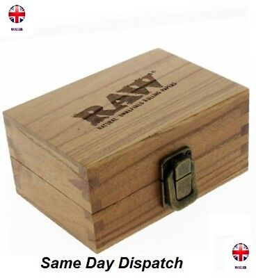 Raw Rolling Smoking Tobacco Snuff Wooden Box Smokers Gift Set UK Seller