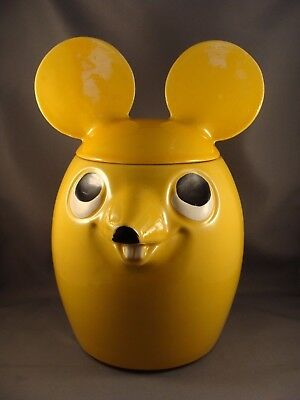 Vintage McCoy USA Yellow Mouse Cookie Jar #208 1960's-70's