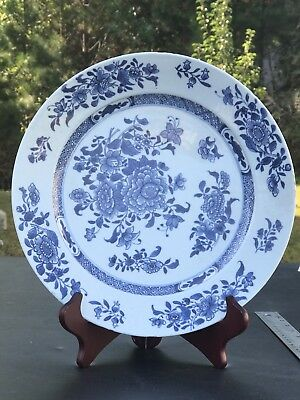 2.Antique Chinese Export Porcelain  Blue And White Plate