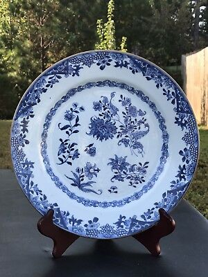 4.Antique Chinese Export Porcelain  Blue And White Plate