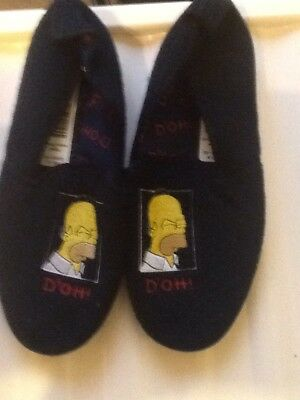 Brand New - Mens Slippers - Uk Size 9 - The Simpsons - Marks And Spencers