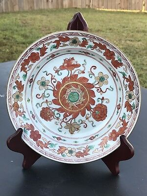 3.Antique Chinese Export Porcelain Famille Rose Painted Plate