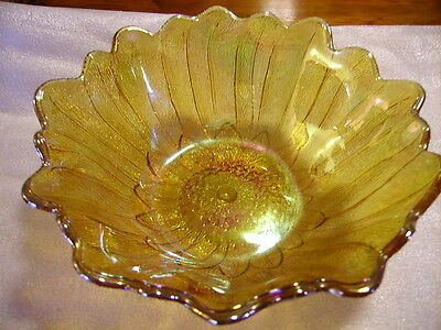 Reduced - Marigold Carnival Glass Bowl