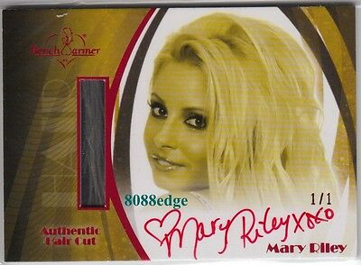 2010 Benchwarmer Blonde Hair Cut Auto #hc1: Mary Riley #1/1 Of Red Autograph Dna