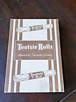 VINTAGE 1940s TOOTSIE ROLLS  60 COUNT CANDY BOX 1 CENT HOBOKEN NJ