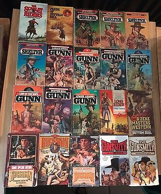 Lot of 53 Westerns-Compton, Cotton, Sherman, etc...Good to acceptable condition