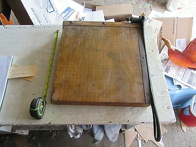 Vintage Ingento #4 Paper Cutter 12 Inch x 12 inch    Lot 17-46-8