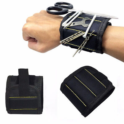 Magnetic Wristband Embedded Magnets Holding Tools Screws Nails Bolts Gadgets UK