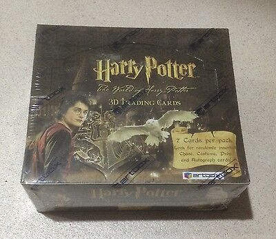 """2007 Artbox """"The World of Harry Potter 3D Trading Cards"""" - Sealed Box - 24 Packs"""