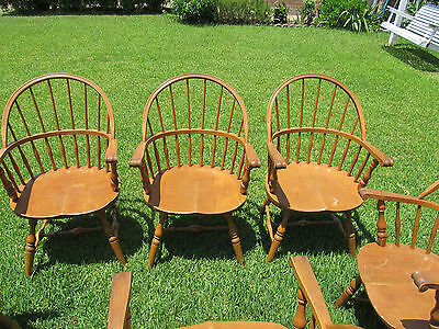 Six (6) Windsor Arm Chairs