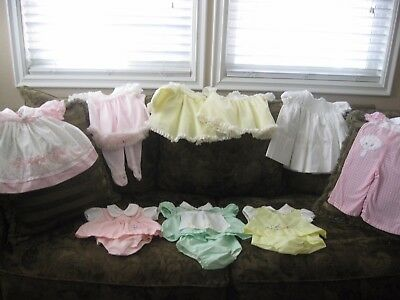 Lot of 8 Vintage Baby Girl Clothes