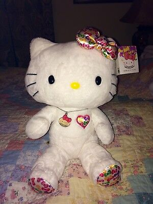 35th Anniversary Sanrio Hello Kitty Build A Bear Plush HTF Necklace Bow & Tag!